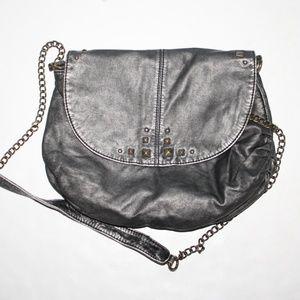 Gun metal studded MUDD purse